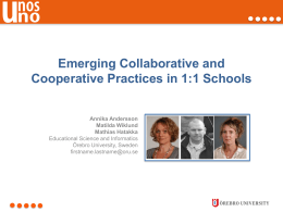 Emerging Collaborative and Cooperative Practices in 1:1 Schools