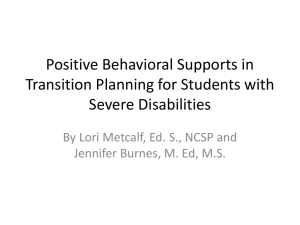 Positive Behavioral Supports (PPT)