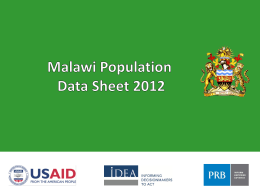Malawi Population Data Sheet 2012