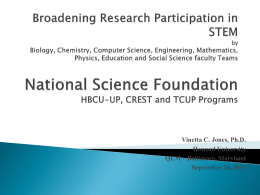 Broadening Research Participation in STEM