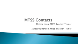MTSS Contacts Presentation 12.2.13
