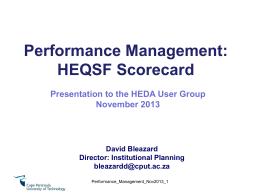 Performance Evaluation Scorecard