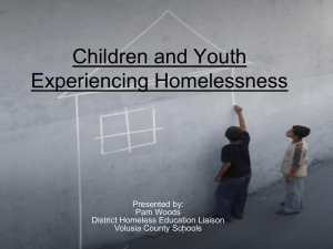 Children and Youth Experiencing Homelessness PowerPoint