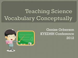 Teaching Science Vocabulary Conceptually