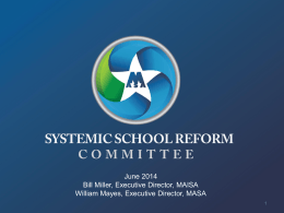 Systemic School Reform Committee Report