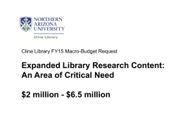 Library Macro Budget PowerPoint