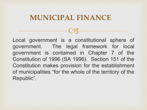 Local Government Fin..