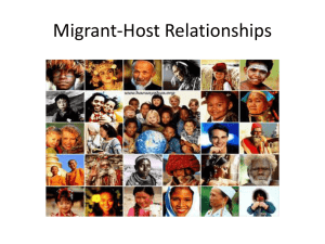 Ch 8 Migrant-host relationships