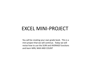 EXCEL MINI-PROJECT