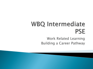 Building A Career Pathway - PSE at Newport High School