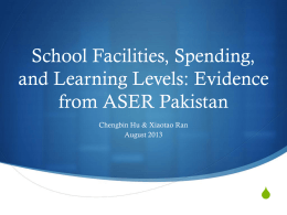 School Facilities, Spending, and Learning Levels