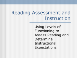 Curriculum-based Assessment of Reading and Writing