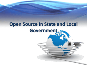 Open Source In State and Local Government - Mil-OSS