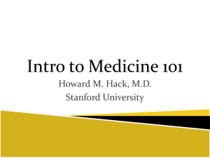 Med Intro 101 Lecture 1 Hack