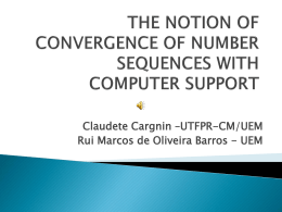 the notion of convergence of number sequences with
