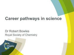 Career pathways in science