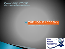 Slide 1 - The Noble Academy, Pune