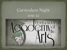 Curriculum Night PowerPoint 2012-13