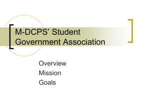 MDCPS*s Student Government Association