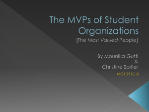 The MVP - Christine Spitler