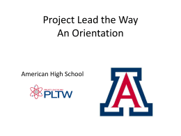 Project Lead the Way American High School