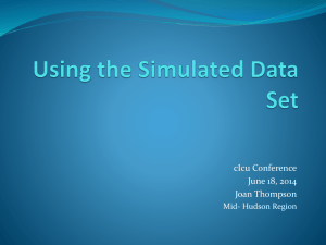 Developing Assessment Literacy Using the Simulated Data Set