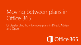 Moving between plans in Office 365