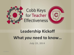 Leadership Kickoff Electronic Platform PowerPoint