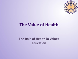 Integrating Health Education with Values Education