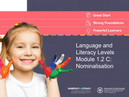 Nominalisation - Department for Education and Child Development