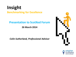 INSIGHT Presentation ScotxEd forum 26 March
