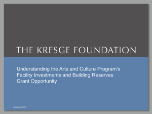 Slide presentation - The Kresge Foundation