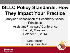 AP Conference 2014 ISLLC - Maryland Association of Secondary
