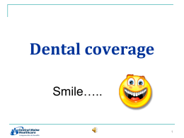 Dental Insurance - Healthy Decisions