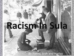 Racism In Sula - DJ