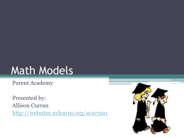 Math Models - Lynbrook School