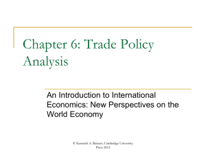 Chapter 6 - An Introduction to International Economics
