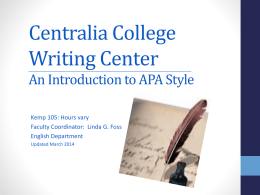 APA-style Paper Format - Online Writing Lab