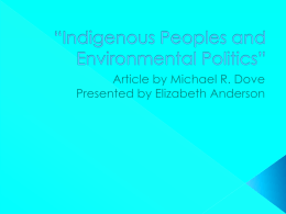 Indigenous Peoples and Environmental Politics Ted Talk