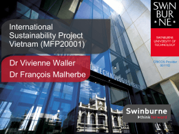 Slide 1 - Swinburne University of Technology