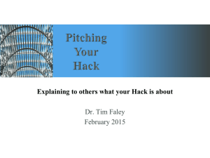 Pitching your Hack PowerPoint Deck
