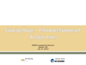 Financing Change * Performance Funding and the Larger
