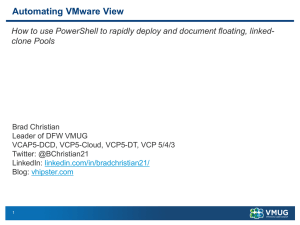 Automating VMware View How to use PowerShell