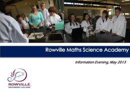 Rowville Maths and Science Academy