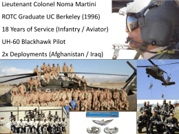 Week 9 Presentation – Martini – Adaptive Challenge of the Military