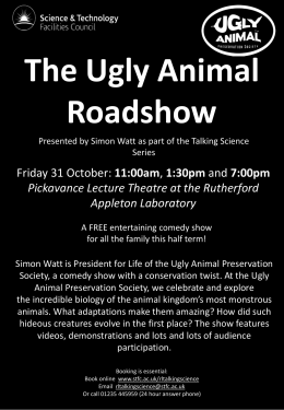 The Ugly Animals Roadshow