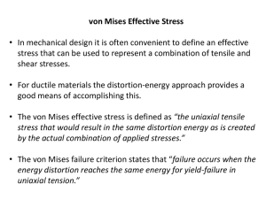 Von Mises Failure Criterion