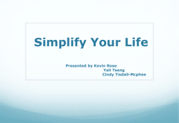 Simplify Your Life - Western Academy of Beijing