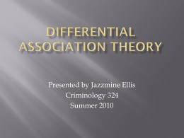 Differential Association Theory-presentation