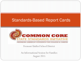 Standards-Based Report Cards - Fremont Unified School District